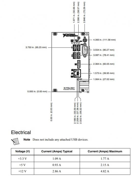 PXIe-8821 National Instruments PXI Controller | Apex Waves - Wiring Diagram Image